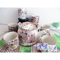 Custom Colorful Ceramic Teapot Set , Authentic Chinese Traditional Tea Set