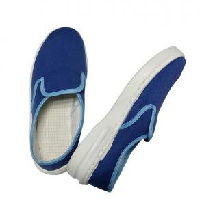 China Dark Blue Fabric ESD Safety Shoes Non Hole Anti Static Shoes For EPA Area on sale