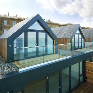 China New design aluminium U channel frameless glass railing for balcony on sale