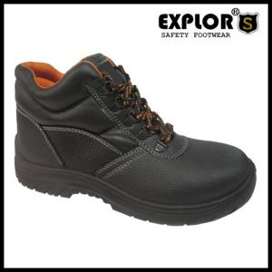 China Men's steel toe shoes safety shoes ankle boots work shoes women's  black boots on sale