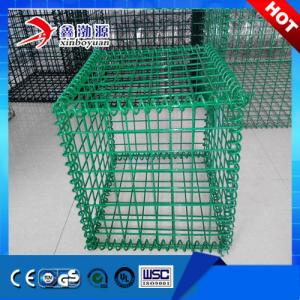 China Carbon Steel Iron PVC Coated Welded Gabion Box on sale