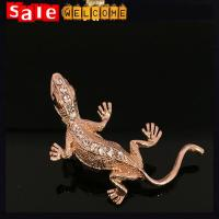 Golden Lizard Brooch Gecko Brooch Crystal Rhinestone Animal Scarf Pins Evil Brooches Pin