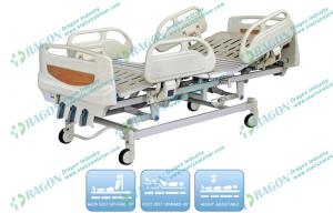 China Detachable ABS Manual Hospital Bed With Mattress , over bed table , beside cabinet on sale