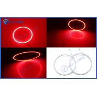 China Red COB LED Car Lights LED Angel Eye Halo Ring Light 60mm - 100mm for Universal Cars on sale