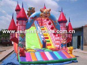 China Customized Inflatable Dry Slide In Teddy Bear Design For Sale on sale