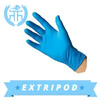 blue medical nitrile disposable glove