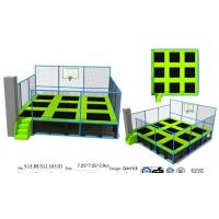 49M2 China Factory Price Wholesale Square Small Trampoline with Basketball Game