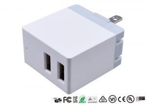 China OEM 5V 2.1A Dual Port USB Charger US Plug Adapter Wall Charger Potable Design on sale