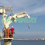 2.5T22M Telescopic Boom Hydraulic Marine Deck Crane