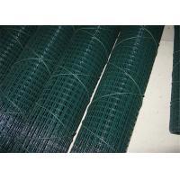 1 / 4 Green Pvc Coated Galvanised Steel Mesh , Metal Wire Mesh Plain Weave