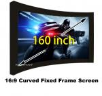 Amazing Picture Screen 160 Inch Curved Fixed Frame Projector Screens 16:9 Scale Support 3D