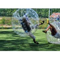 Safe Outdoor Inflatable Toys Children Bumper Ball , Human Hamster Ball Bubble Soccer