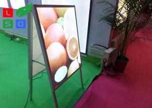China Double Sided LED Poster Display A Shaped With Aluminium Frame Profile on sale