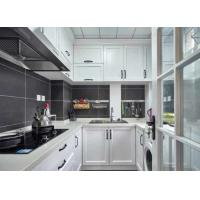 White Membrane Press Kitchen Cabinet Quartz Stone Countertop Overall Cabinet Customized