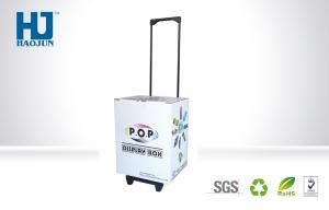 China New Design Paper Rolling Suitcase,Foldable Display Floor Stands for Shopping Mall on sale
