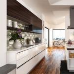 Modular Solid Wood Kitchen Cabinets Paint Door Finish Blum / Dtc Hardware