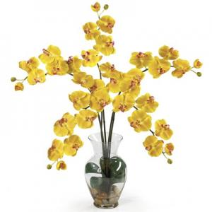 China 10 flowers artificial orchid branch for good decoration on sale