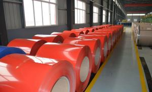 China 0.42mm Building Material Prepainted Galvanized Steel Coil for Steel Roof Sheet on sale