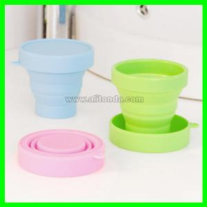 China Soft compressible and exquisite silicone sports cup for outdoor travel on sale
