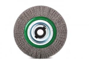 China 200mm OD Steel Wire Wheel Brush / Stainless Steel Wire Brush For Bench Grinders on sale