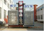 9m - 150m 1600kg Rated Load Construction Material Hoists With Single / Double Cage