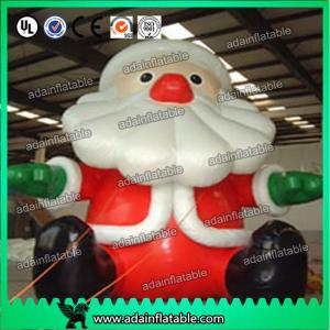 China Shopping Mall Christmas Event Decoration Inflatable Santa Claus Cartoon on sale