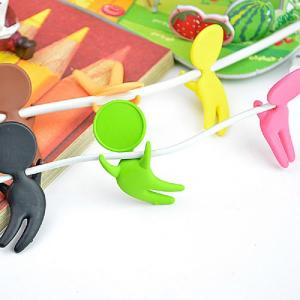 China Cotton Shaped Cable Drop Cord Clips , Common Design Cable Management Clips on sale