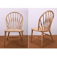 Natural Wood Modern Dining Room Furniture Sets Windsor Side Chair With Hemp Seat