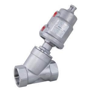 China Threaded Pneumatic Angle Seat Valve with Stainless Steel Actuator on sale