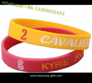 China Factory Price Custom Color Filled Logo Debossed Silicone Wristband for promotion on sale