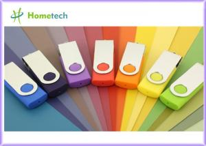 China 1GB Swivel USB Pen Drives Logo Printing / Engraving Metal Twist USB 1.1 / 2.0 Sticks on sale