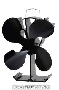 China Eco-Friendly Wood /Gas Stove Fan with 4 Blades on sale