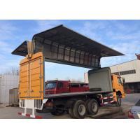 10 Wheels Wing Van Truck, 266HP Horse Power Quick Loading Wing Box Truck