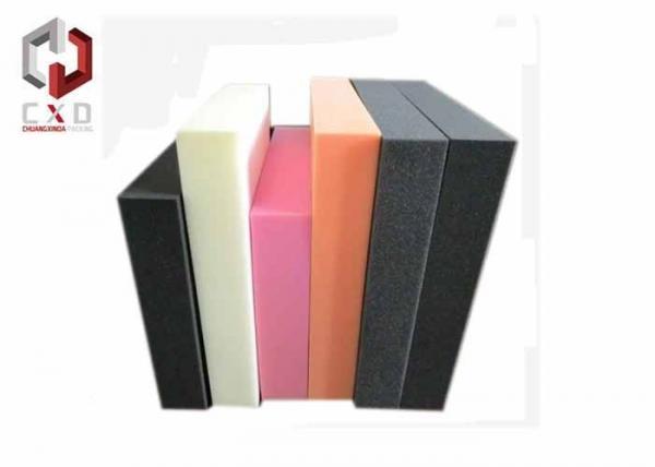 Black White Sponge Packing Material , High Density PU Foam Sheet for