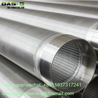 China factory Oasis Directly supply Johnson wire wrapped well screens / wedge V wire slot screen pipe