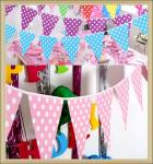 Printed Paper Hanging Banner,Colorful Flag bunting for Party  Decoration