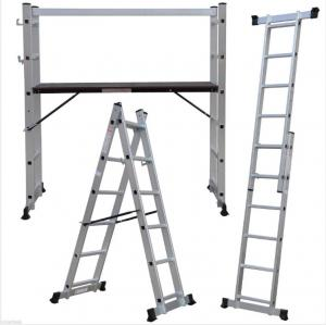China 2X6 Step Scaffolding Step Ladder , Aluminium Folding Ladder Multi Use on sale