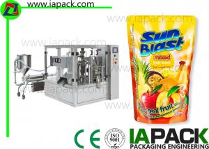 China Rotary Fruit Juice Packaging Machine Liquid Filling Energy Saving on sale