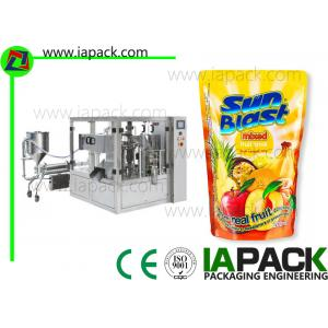 China Rotary Fruit Juice Packaging Machine Liquid Filling Energy Saving on sale