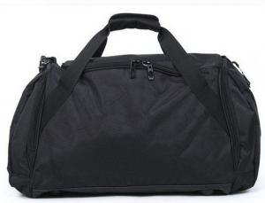 Quality Customized Portable Black Duffel Bags Luggage Fashionable 600D Polyester for sale