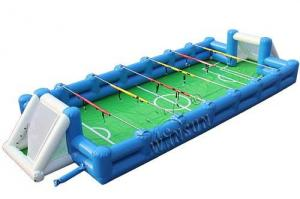 China Inflatable Human Table Football 15x6m With High Efficiency Air Blower on sale