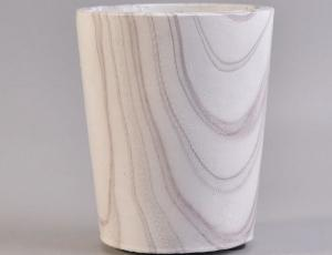 China White Concrete Cement Stone Candle Holders Home Decor Marble Effect on sale