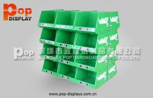 China Green POP Fashional Cardboard Pallet Display Stand With Glossy Lamination on sale