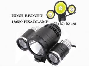 China Waterproof  Super Bright  Bicycle Black Aluminum Casing LED Headlamp Flashlight on sale