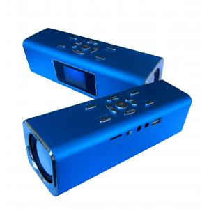 China Powerful Wireless portable mini LCD screen FM speaker used Lithium battery BT-SC42 on sale