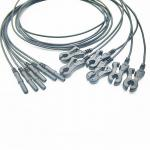 CE ISO13485 Radiotranslucent X Ray ECG Cables And Leadwires