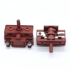 China Multi Function Red / Black Rotary Switch Used in Kitchen Appliance Electric Oven on sale