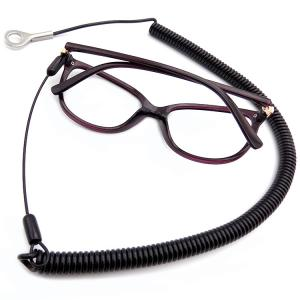 China Anti - Theft Safety 1.5m Long Black Pure PU Cable Tool Lanyard With Glasses on sale