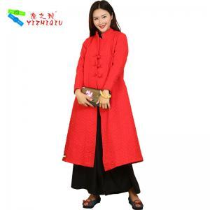 China Red Cotton-padded winter coats wholesale windbreaker jacket on sale