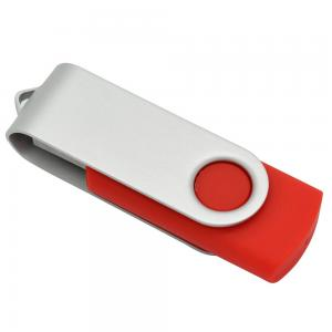 China Fillinlight Red Swivel USB Flash Drive USB 2.0 Twisted U Disk Promotional Gift USB Flash Drive on sale
